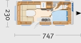 Hymer Eriba Exciting 535 - Grundriss