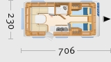 Hymer Eriba Exciting 471 - Grundriss