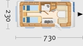 Hymer Eriba Exciting 495 - Grundriss